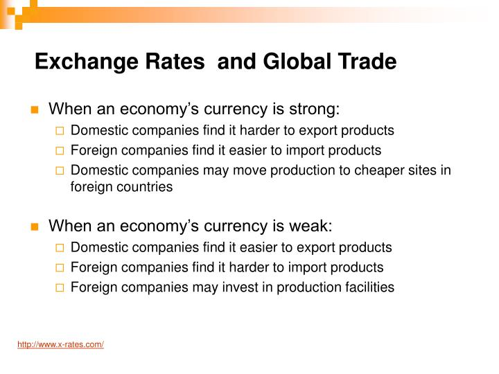Exchange Rates  and Global Trade