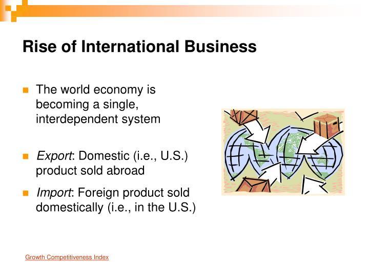 Rise of International Business