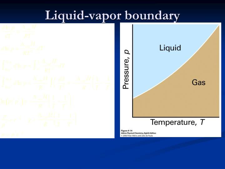 Liquid-vapor boundary