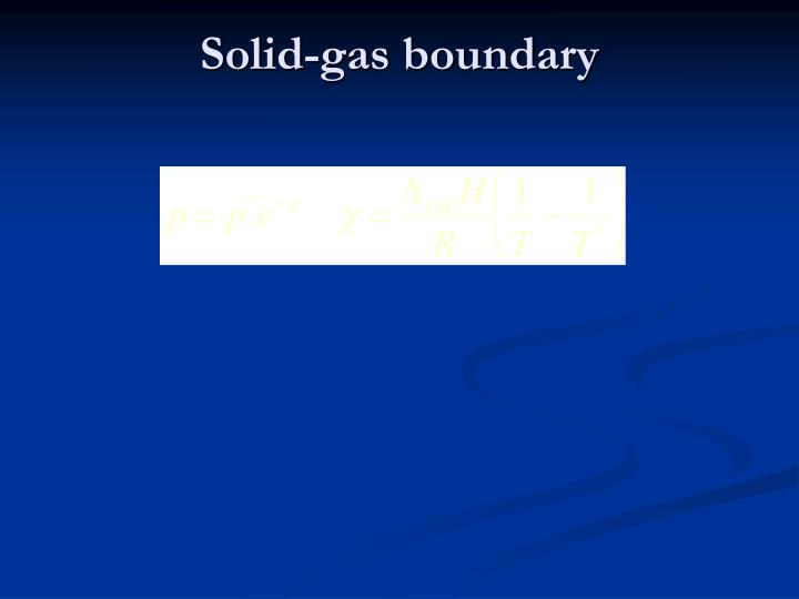 Solid-gas boundary