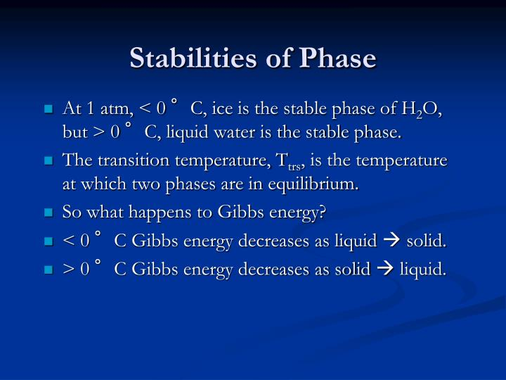 Stabilities of Phase