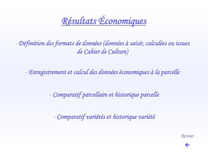 Résultats Économiques