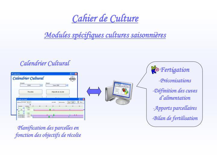 Cahier de Culture