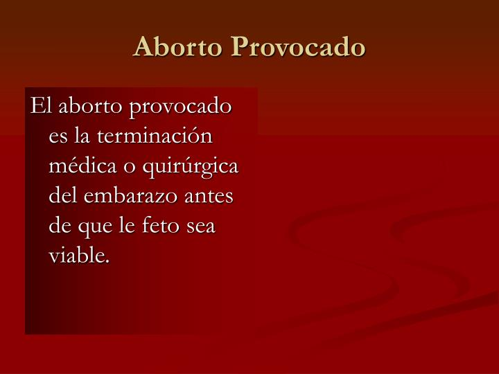 Aborto Provocado
