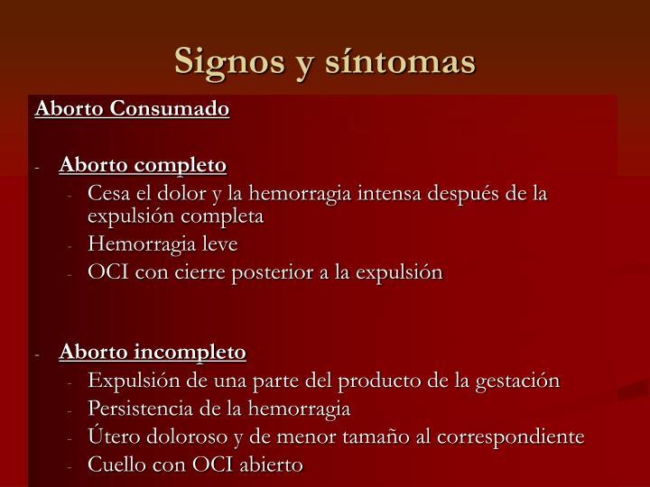 Signos y síntomas