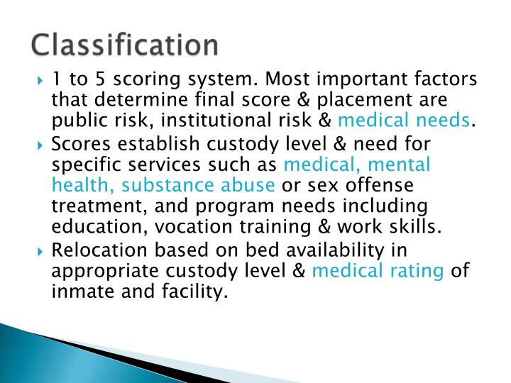 1 to 5 scoring system. Most important factors that determine final score & placement are public risk, institutional risk &