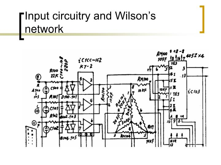 Input circuitry and Wilson's network