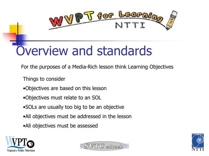 Overview and standards