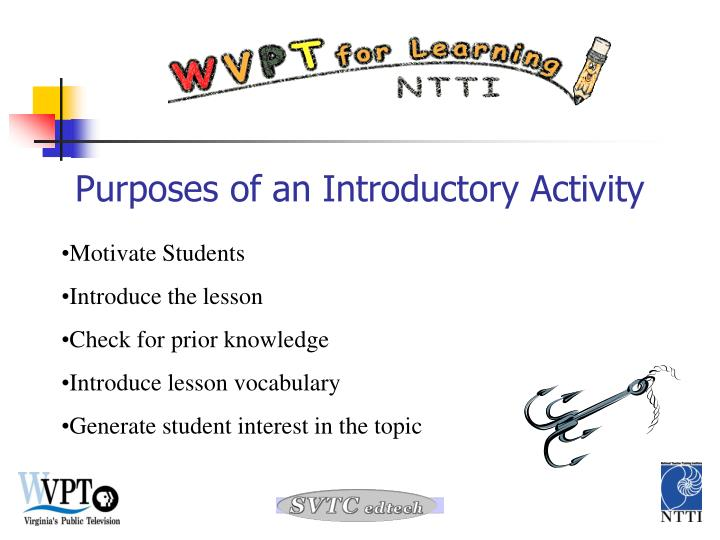 Purposes of an Introductory Activity
