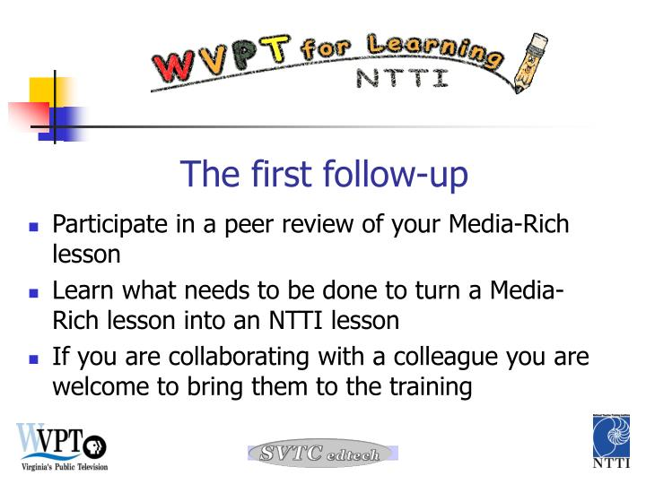 Participate in a peer review of your Media-Rich lesson