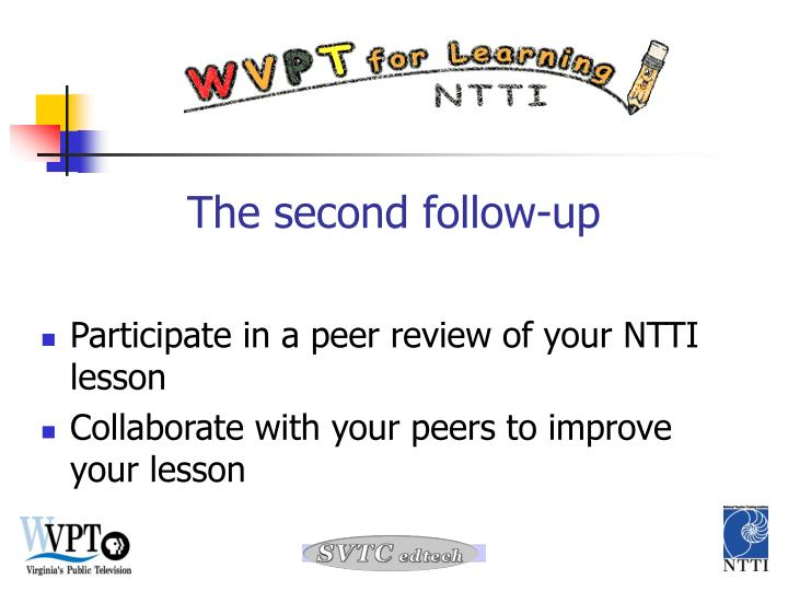 Participate in a peer review of your NTTI lesson