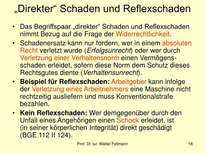 """""""Direkter"""" Schaden und Reflexschaden"""