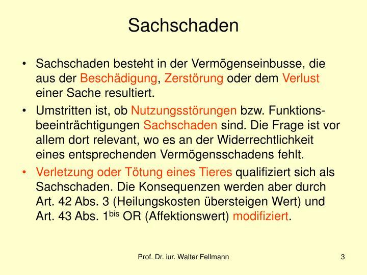 Sachschaden