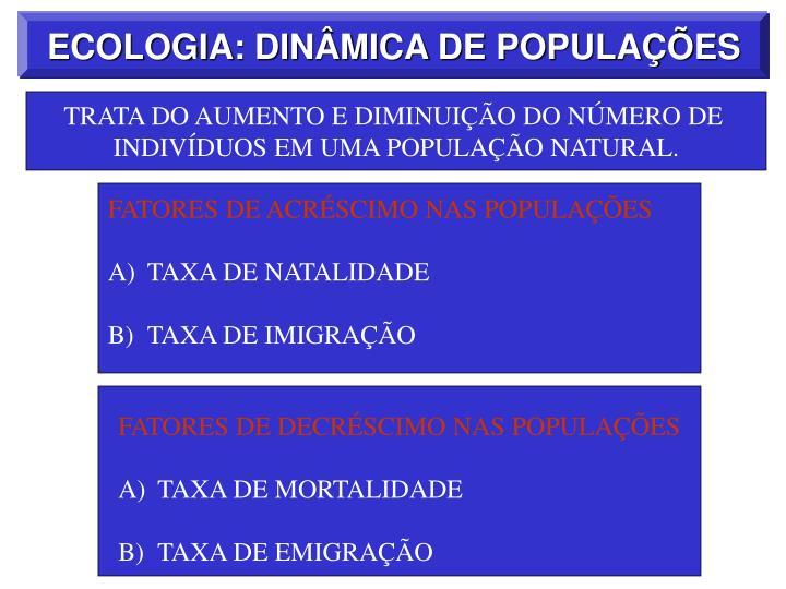 FATORES DE ACRÉSCIMO NAS POPULAÇÕES
