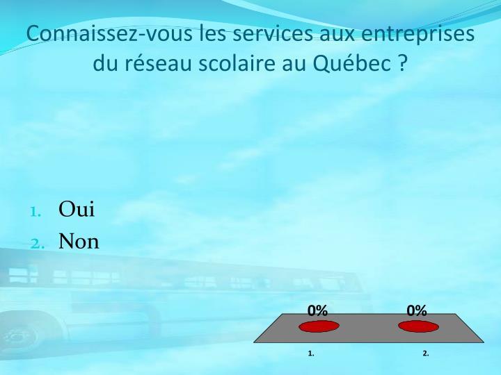 Connaissez-vous les services aux entreprises du réseau scolaire au Québec ?