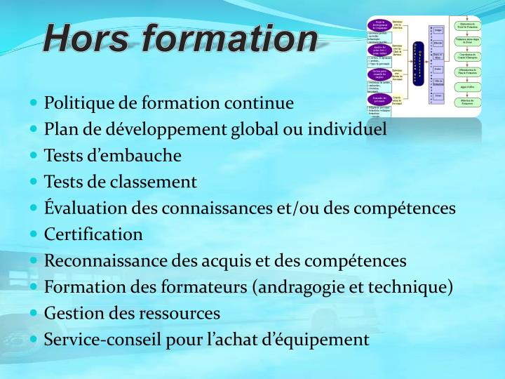 Hors formation