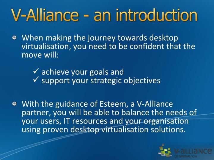 V-Alliance - an introduction
