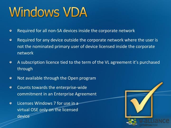 Windows VDA