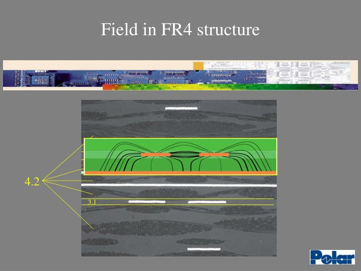 Field in FR4 structure
