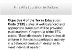 fine arts education in the law