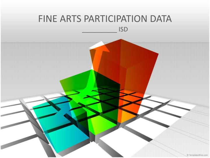 Fine arts participation data
