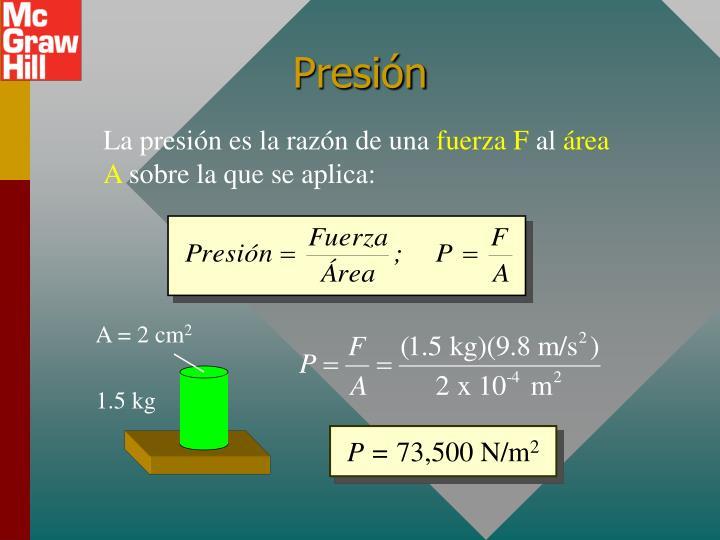 A = 2 cm
