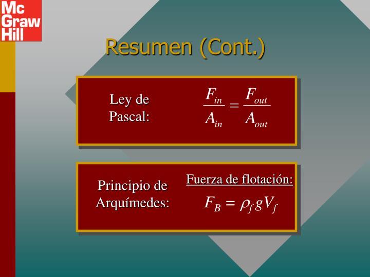 Ley de Pascal: