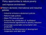 policy opportunities to reduce poverty and improve environment3