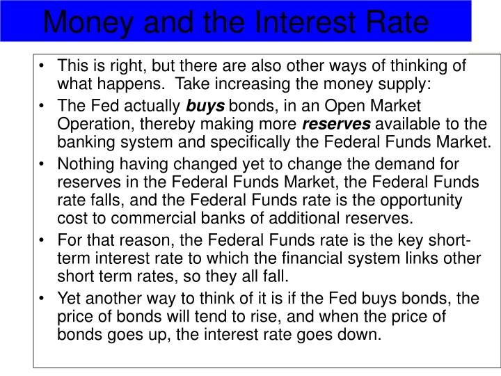 This is right, but there are also other ways of thinking of what happens.  Take increasing the money supply: