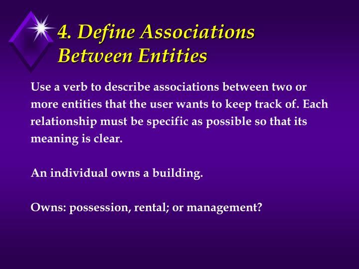 4. Define Associations