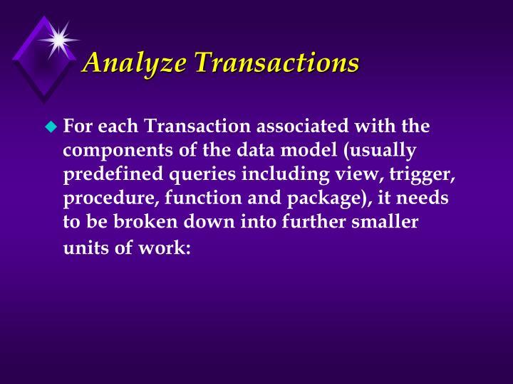 Analyze Transactions