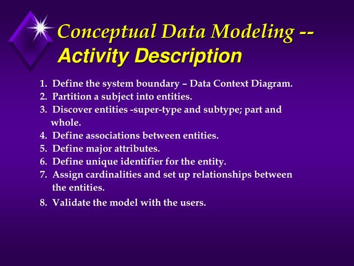 Conceptual Data Modeling --
