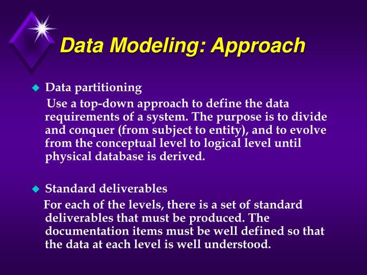Data Modeling: Approach