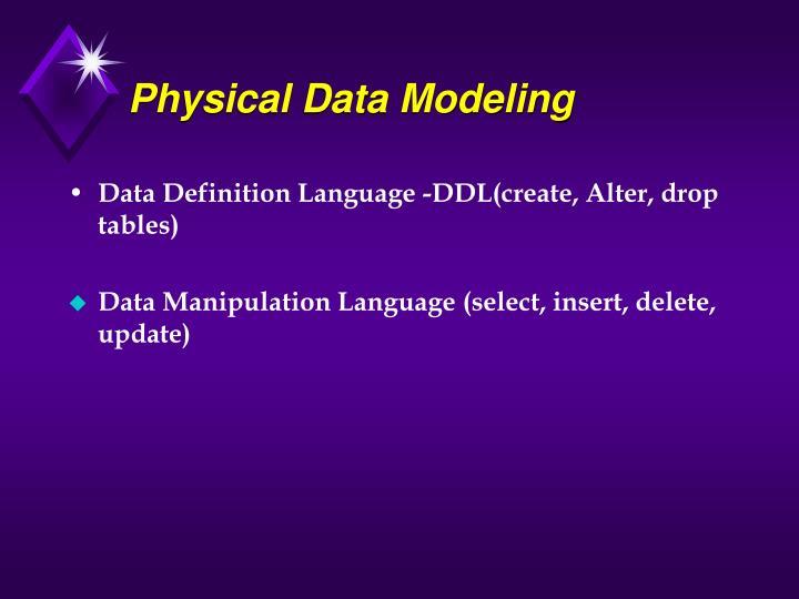 Physical Data Modeling