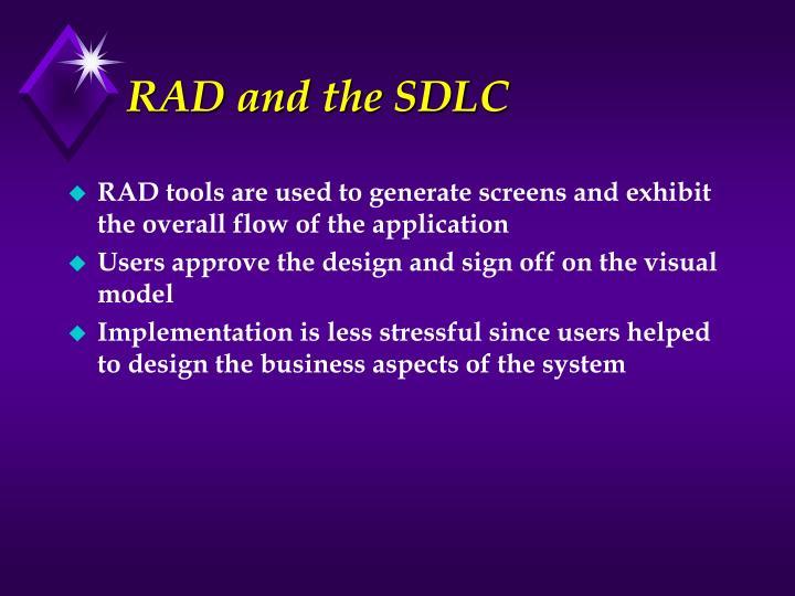 RAD and the SDLC