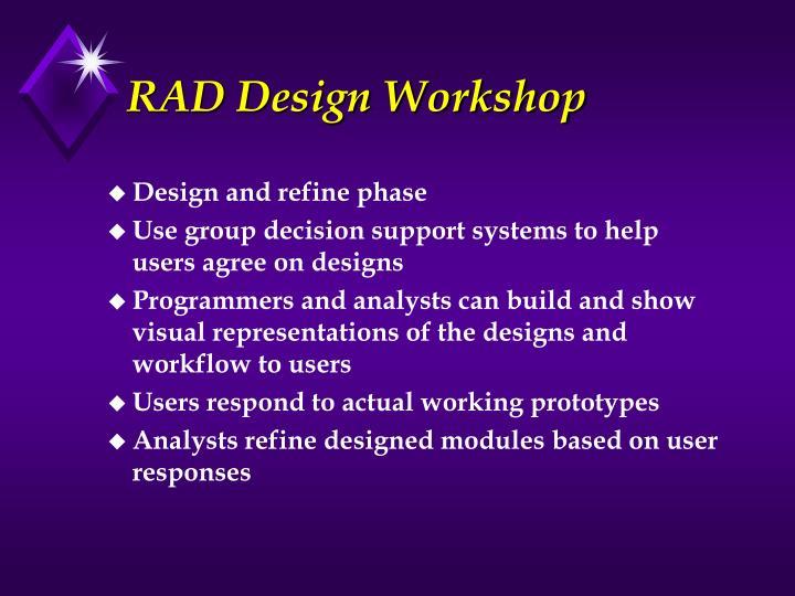 RAD Design Workshop