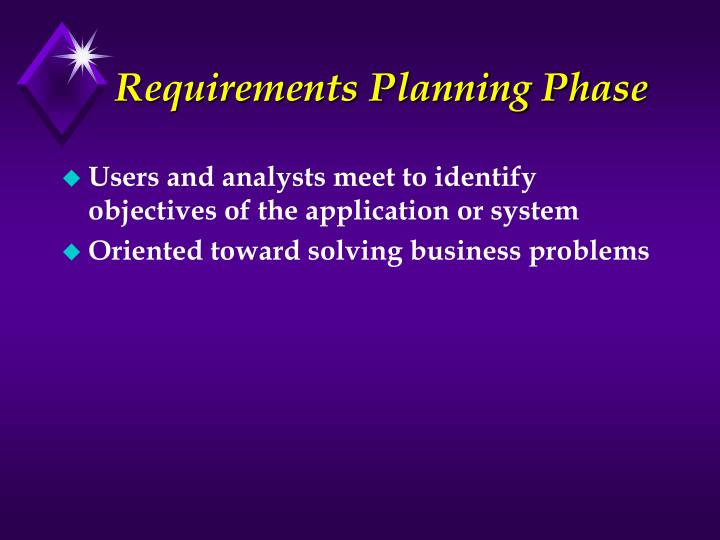 Requirements Planning Phase