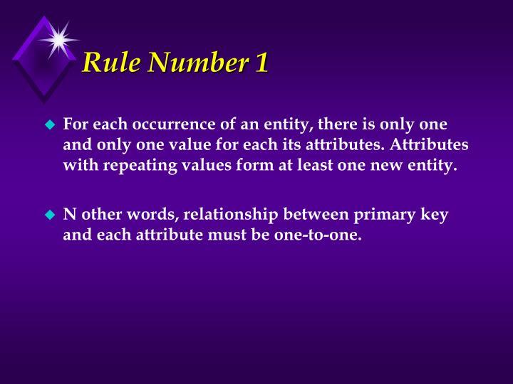 Rule Number 1