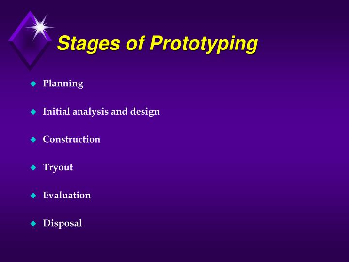 Stages of Prototyping