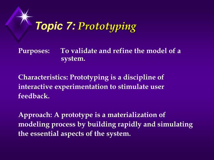 Topic 7: