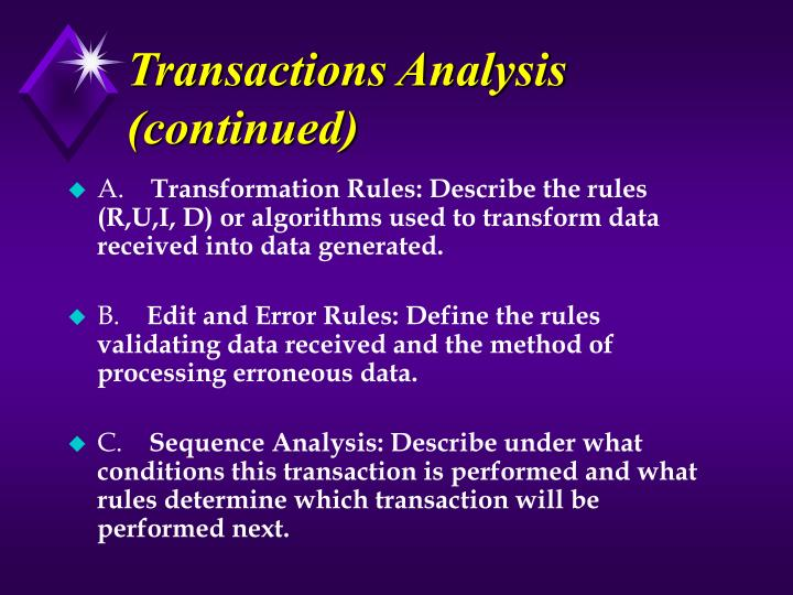 Transactions Analysis (continued)
