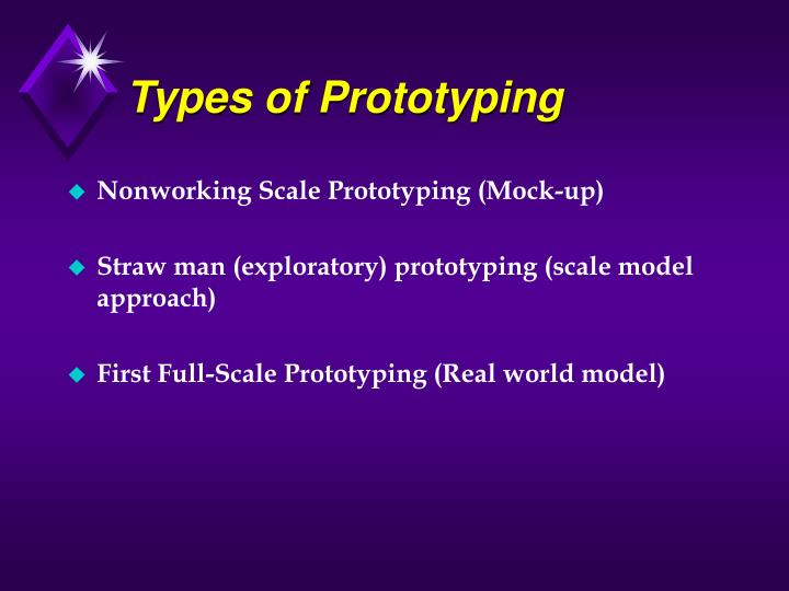 Types of Prototyping