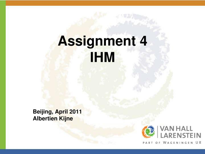 Assignment 4 ihm