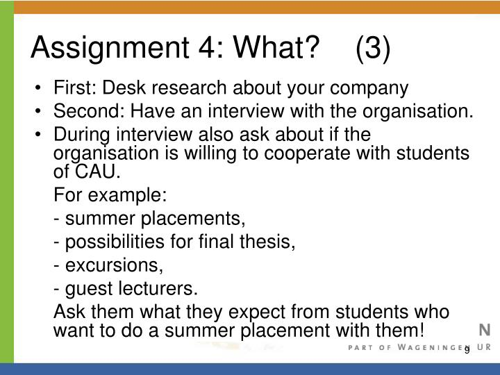 Assignment 4: What?    (3)
