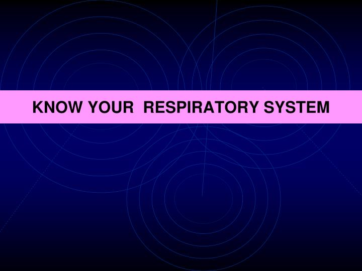 Know your respiratory system