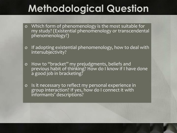 Methodological Question