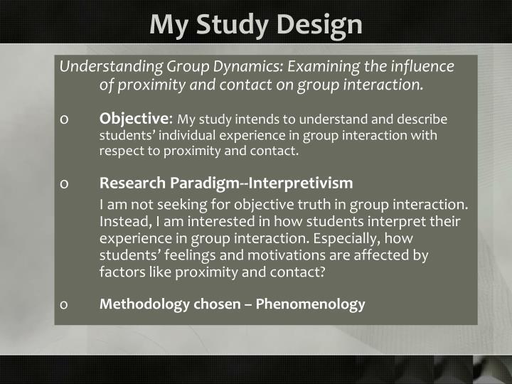 My Study Design