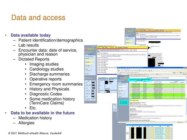 Data and access