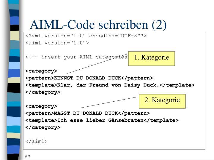 AIML-Code schreiben (2)