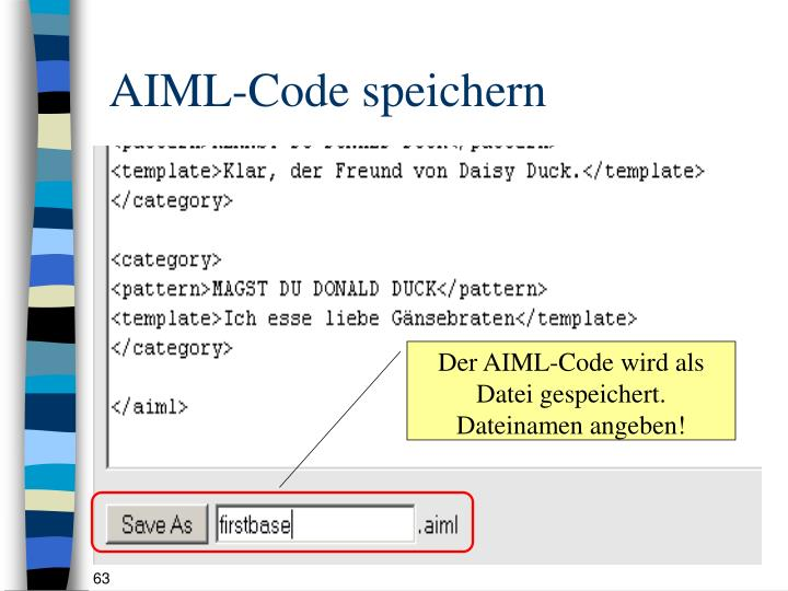 AIML-Code speichern